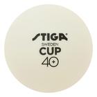 Мяч для настольного тенниса Stiga Cup ABS, набор 6 шт, цвет белый, 1110-2510-06