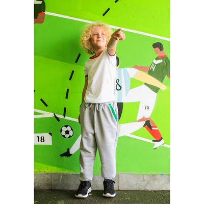 """Брюки для мальчика MINAKU """"Динозавры"""", рост 146-152 см, цвет серый"""