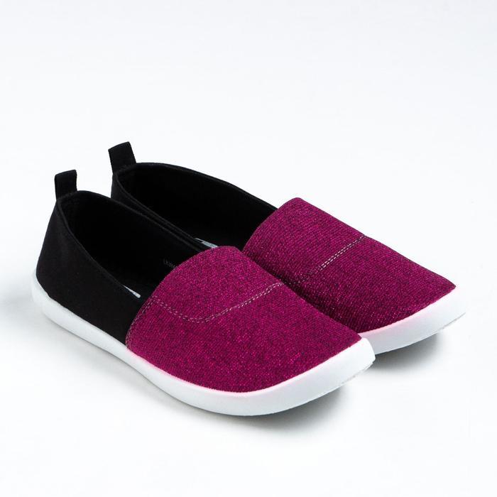 Слипоны женские арт. LKW40540-16 , цвет фиолетовый/черный, размер 37