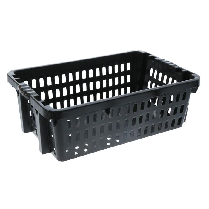 Ящик хозяйственный 60×40×20 см, цвет черный