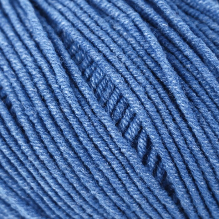 "Пряжа ""Jeans"" 55% хлопок, 45% акрил 160м/50гр (16 яр. голубой)"