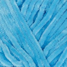 "Пряжа ""Velour"" 100% микрополиэстер 170м/100г (850 яр. голубой)"