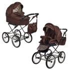 Коляска детская 2 в 1 «Нежность», цвет коричневый