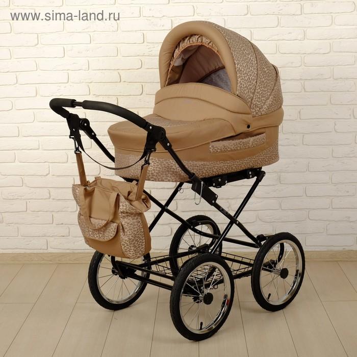Коляска детская 2 в 1 «Мираж», цвет бежевый