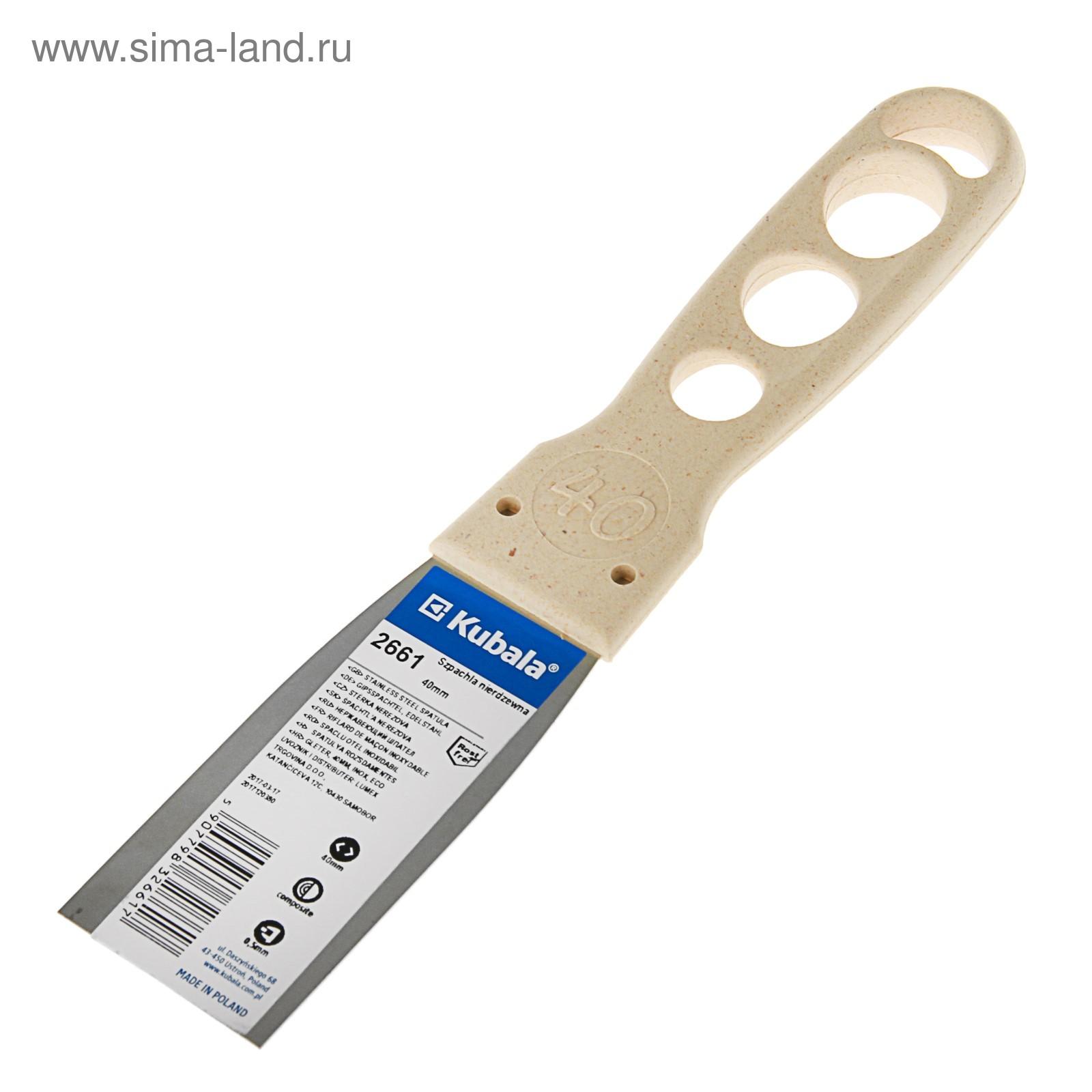 Шпатель фасадный kubala eco line, 40 мм, нержавеющая сталь, ручка