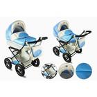 Коляска детская 2 в 1 «Настёна», цвет голубой/бежевый