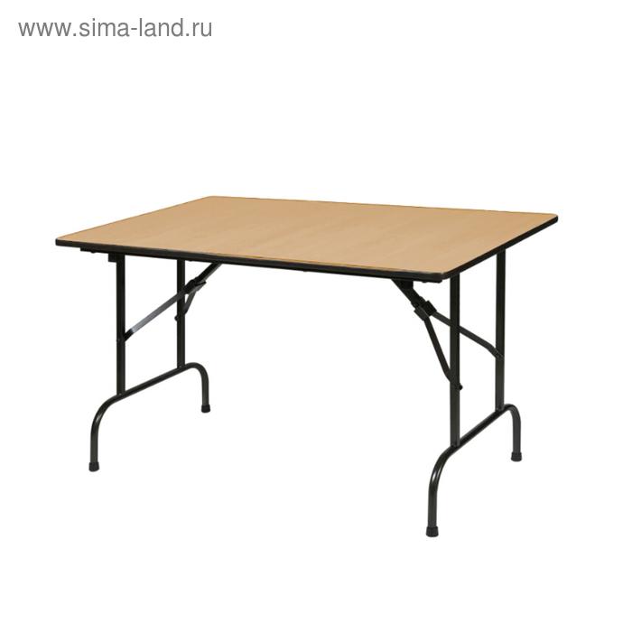 """Складной стол """"Лидер 1"""", 1500х800 мм, ножки чёрные, столешница вишня"""