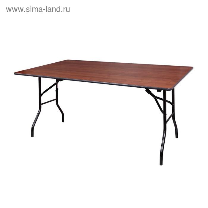 """Складной стол """"Лидер 2"""", 1800х800 мм, ножки чёрные, столешница орех"""