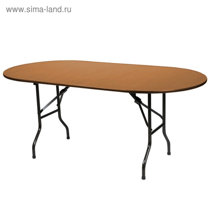 """Складной стол """"Лидер 5"""", 1800х800 мм, ножки чёрные, столешница вишня"""