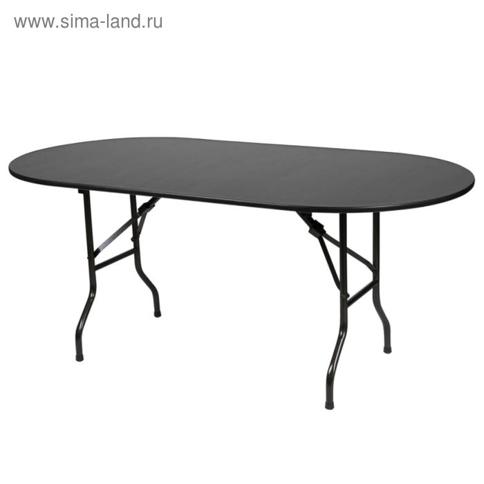 """Складной стол """"Лидер 5"""", 2400х900 мм, ножки чёрные, столешница венге"""
