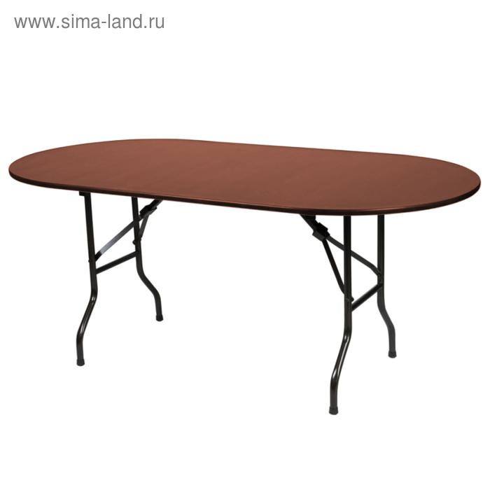 """Складной стол """"Лидер 5"""", 2400х900 мм, ножки чёрные, столешница орех"""