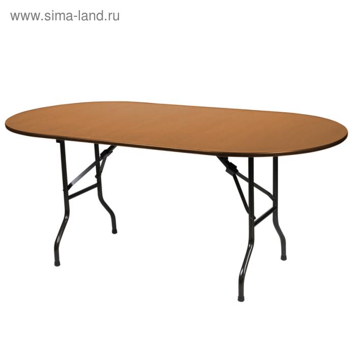 """Складной стол """"Лидер 5"""", 2400х900 мм, ножки чёрные, столешница вишня"""