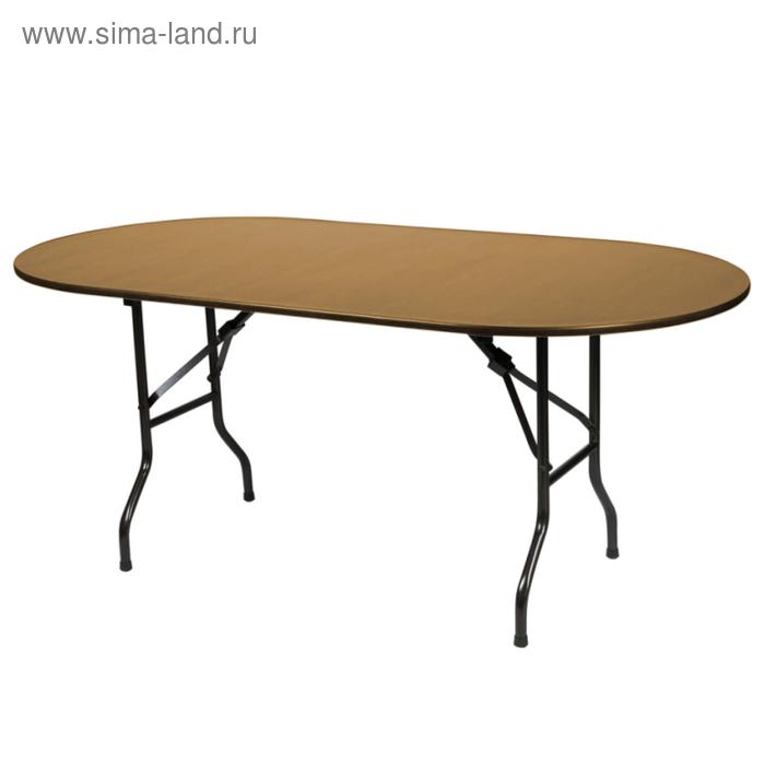 """Складной стол """"Лидер 5"""", 2400х900 мм, ножки чёрные, столешница бук"""