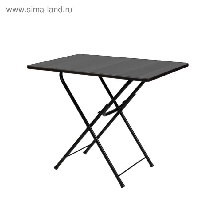 """Складной стол """"Лидер 6"""", 800х800 мм, ножки чёрные, столешница венге"""
