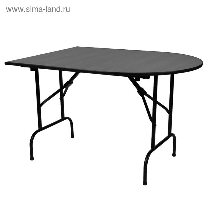 """Складной стол """"Лидер 7"""", 2250х700 мм, ножки чёрные, столешница венге"""