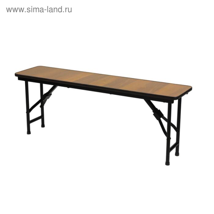"""Складная скамья """"Лидер 8"""", 1800х300 мм, ножки чёрные, столешница вишня"""