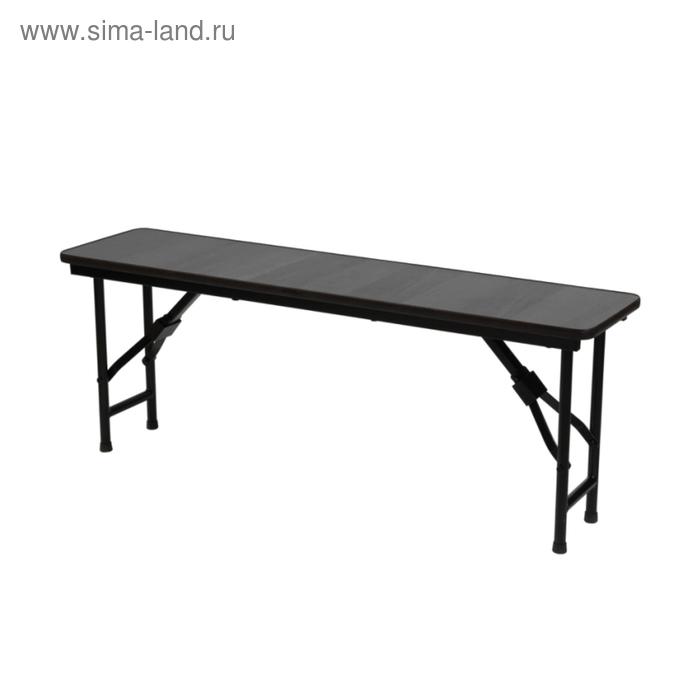 """Складная скамья """"Лидер 8"""", 2000х300 мм,ножки чёрные, столешница венге"""