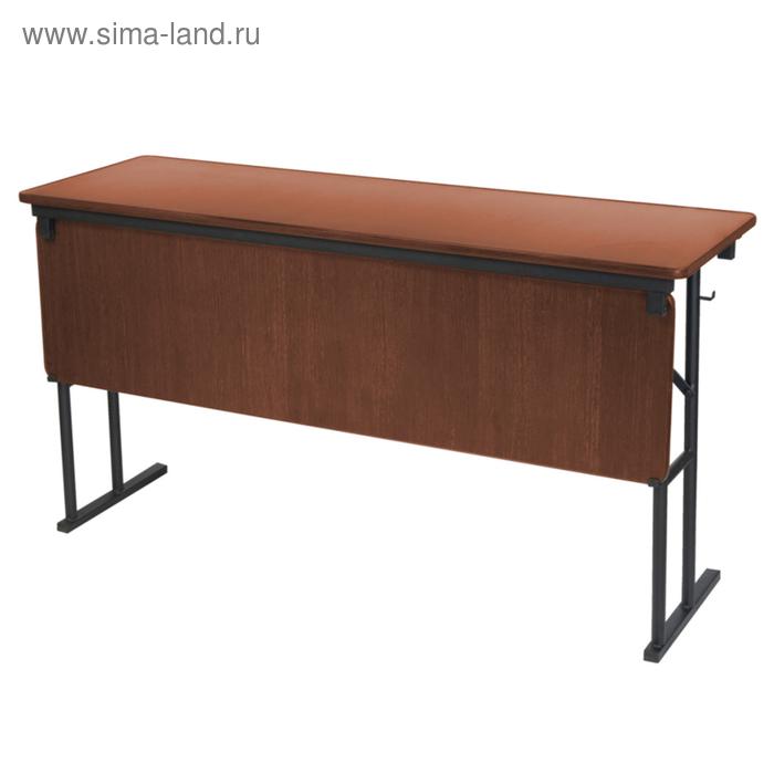 """Складной стол с передней стенкой """"Лидер 10"""", 1200х500 мм, ножки чёрные, столешница орех"""
