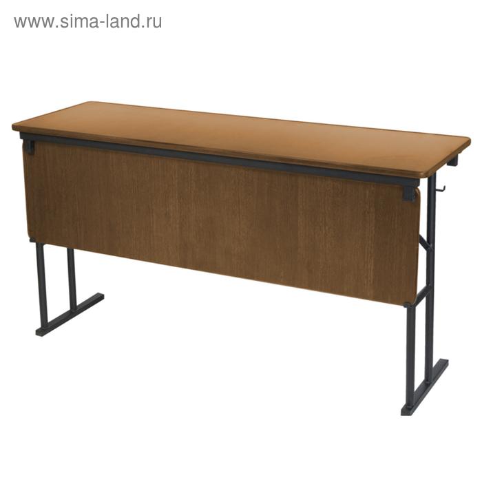 """Складной стол с передней стенкой """"Лидер 10"""", 1200х500 мм, ножки чёрные, столешница бук"""