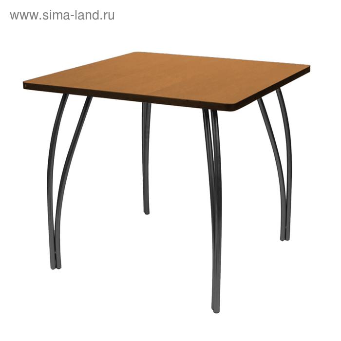 """Стол """"Лидер 23"""", 1200х600 мм, ножки чёрные, столешница вишня"""