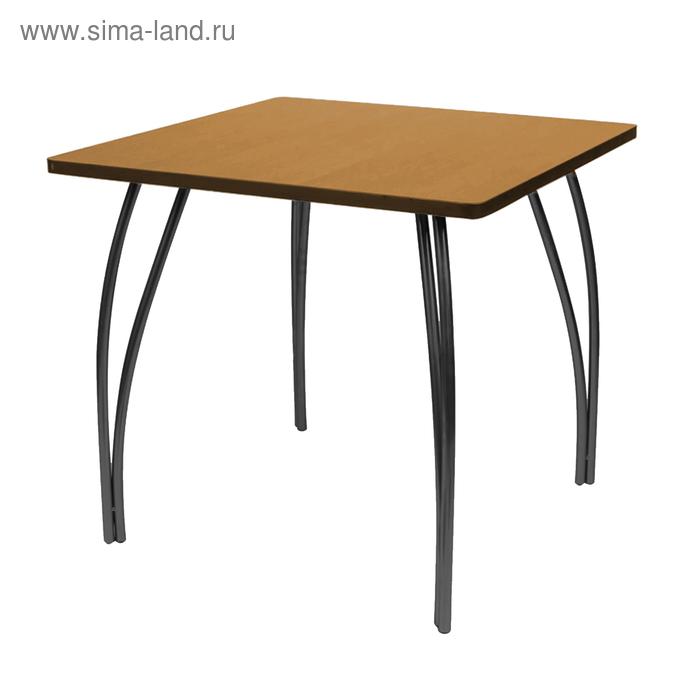 "Стол ""Лидер 23"", 1500х750 мм, ножки чёрные, столешница бук"