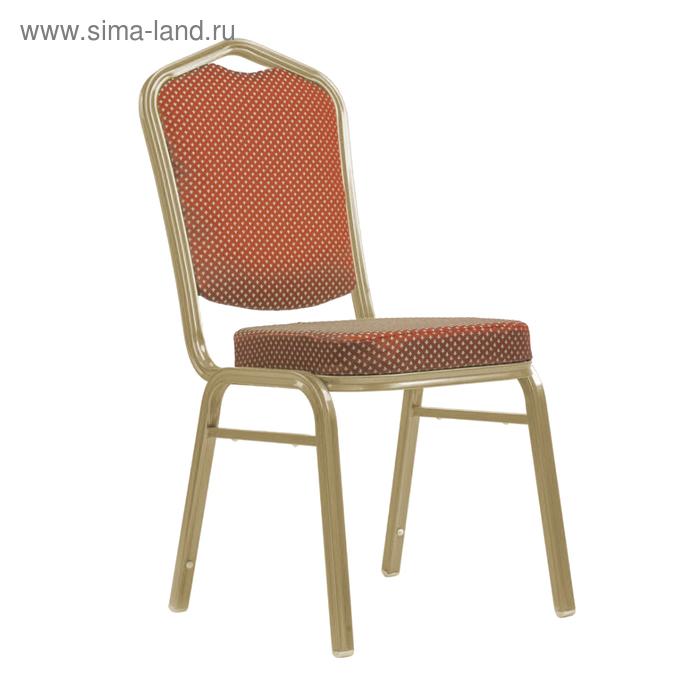 Банкетный стул 25 мм, каркас шампань, обивка корона коричневая