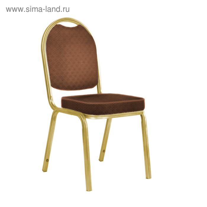 """Банкетный стул """"Азия"""" 25 мм, каркас золото, обивка корона коричневая"""