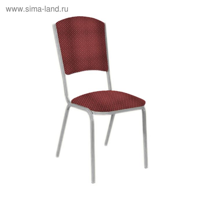 """Банкетный стул """"Вертекс Лайт"""" 20 мм, каркас серебро, обивка ромб красный"""