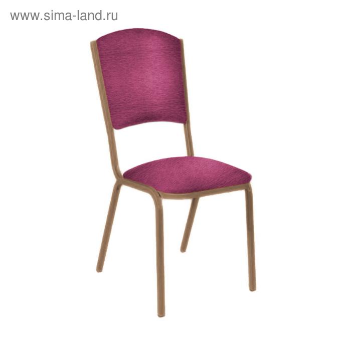 """Банкетный стул """"Вертекс Лайт"""" 20 мм, каркас бронза, обивка шенилл буро-малиновый"""