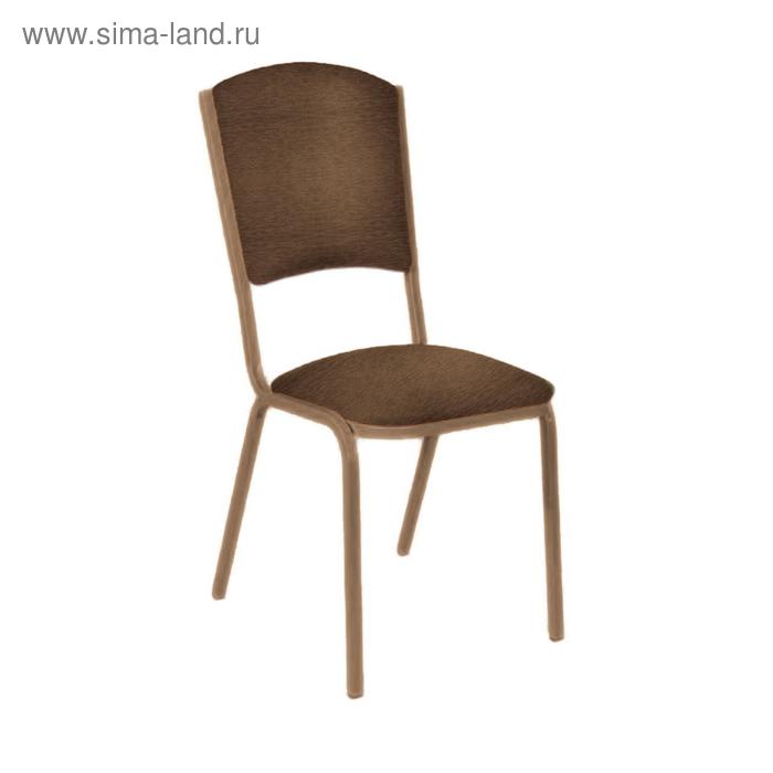 """Банкетный стул """"Вертекс Лайт"""" 20 мм, каркас бронза, обивка шенилл темно-коричневый"""