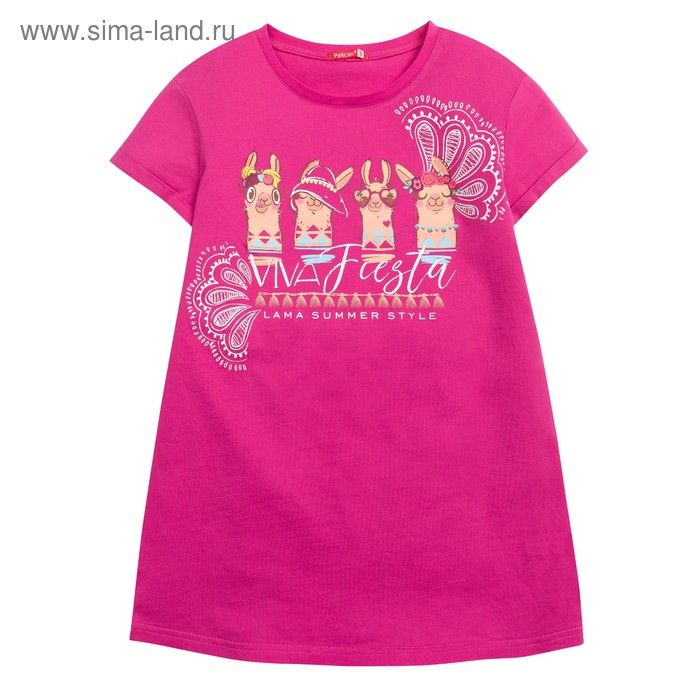Футболка для девочки, рост 116 см, цвет малиновый