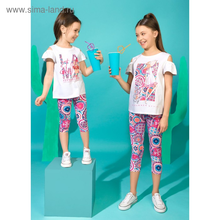 Брюки для девочки, рост 128 см, цвет малиновый GFL4070