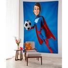 Фотопанно вертикальное «Супер герой футбола», размер 100x150 см