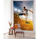 Фотопанно вертикальное «Прыжок футболиста», размер 100x150 см