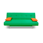 Диван Манго 2 Зеленый, подушки Оранж
