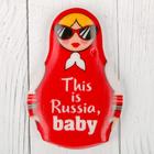 """Магнит в форме матрешки """"This is Russia baby"""""""