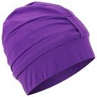 Шапочка для плавания 1406 объемная с подкладом, фиолетовая