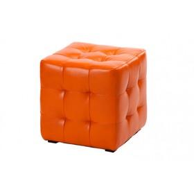 """Пуф """"Руби"""", искусственная кожа, цвет оранжевый"""