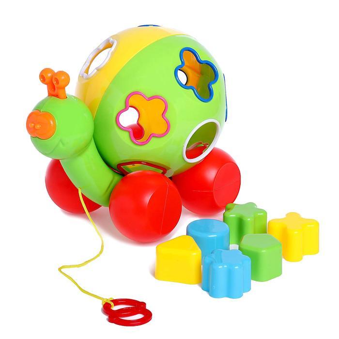 Развивающая игрушка-каталка с сортером «Улиточка»