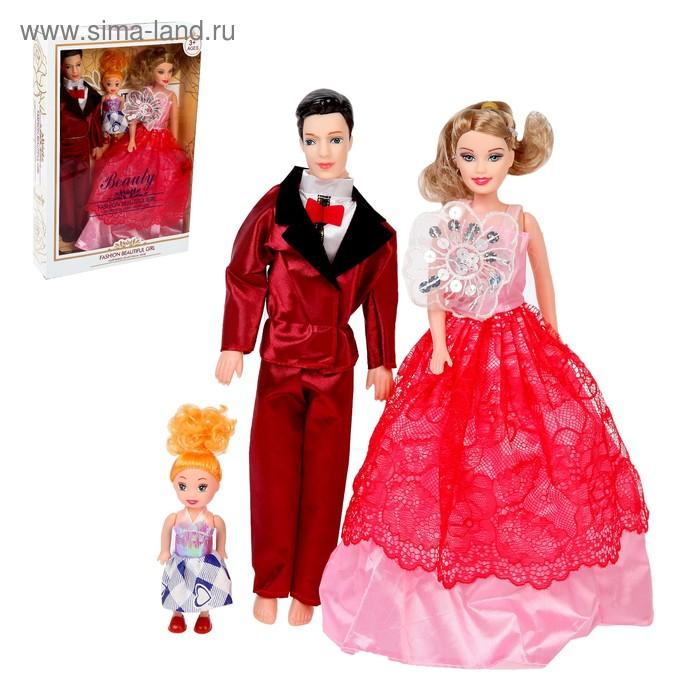"""Набор кукол моделей """"Семья"""" на празднике, МИКС"""
