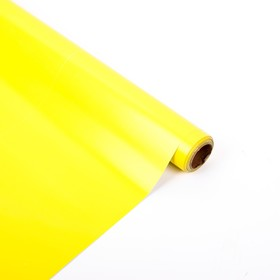 Плёнка металлизированная, желтый, 0,5 х 20 м