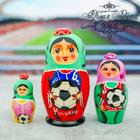 """Матрешка 3 кукольная """"Казань"""" 11 см"""