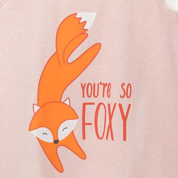"""Майка удлиненная женская KAFTAN """"Fox"""" пудра, р-р 46-48, 100% хлопок"""
