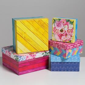 Set of 5 boxes in 1 Tree 22 x 22 x 12 – 14 x 14 x 8 cm