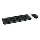 Комплект клавиатура и мышь Microsoft Wired Desktop 600, проводной, мембранный, USB, черный