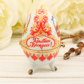 Пасхальное яйцо-шкатулка «Кулич»