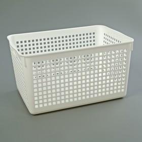 Корзина для хранения, 18×26,5×14 см, цвет белый