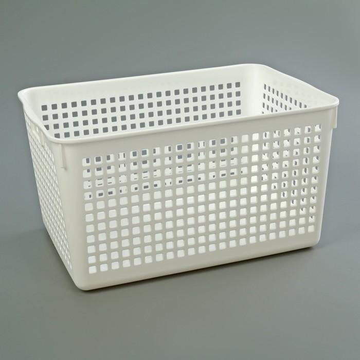 Корзина для хранения, цвет белый