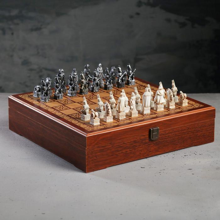 Шахматы подарочные «Бородинское сражение», р-р поля 31 × 31 см
