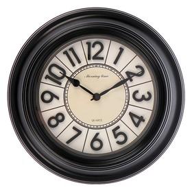 """Часы настенные, серия: Интерьер, """"Классика"""", чёрные, d=40 см"""